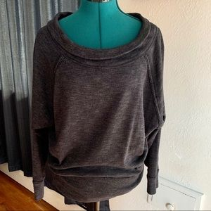 We the free people gray oversized sweater size S